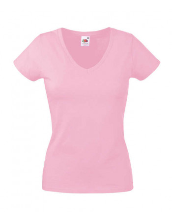 Lady Fit Valueweight V Neck T (IA)