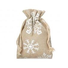 Lina Ziemassvētku maisiņš ar sniegpārslām