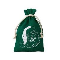 Džutas maisiņš Ziemassvētku vecītis