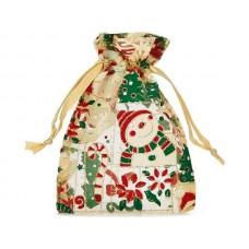 Organza Ziemassvētku maiss sniegavīrs