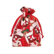 Organza Ziemassvētku maisiņš  - Zābaku motīvs