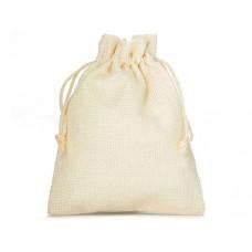 Džutas izskata auduma dāvanu maisiņš  23 x 15 cm