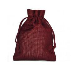 Džutas izskata auduma dāvanu maisiņš  30 x 20 cm