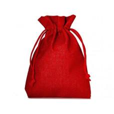 Džutas izskata auduma dāvanu maisiņš  15 x 10 cm