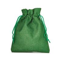 Džutas izskata auduma dāvanu maisiņš  20 x 12 cm