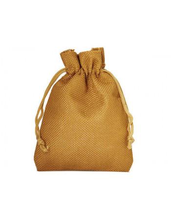 Džutas izskata auduma dāvanu maisiņš  10 x 8 cm